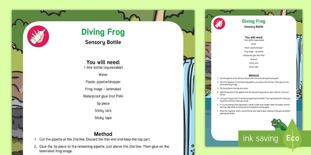 Diving Frog Sensory Bottle