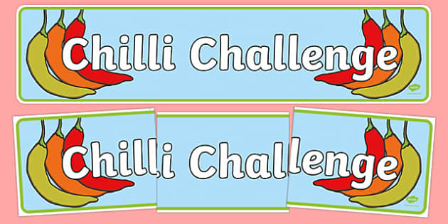 Chilli Challenge Display Banner - chilli challenge, display banner, display, banner