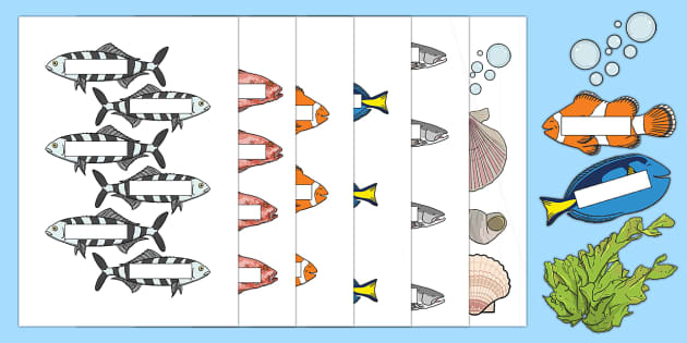 Welcome to School Display Cut-Outs - End of Year,Back to School, Australia, display, back to school, fish, school, school of fish, Austra