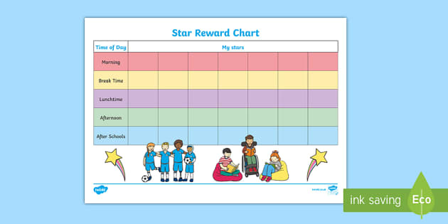 Star Day Reward Chart - celebrate, reward, behaviour, record, award, super, good, improve, monitor, progress, ks1, key stage, ks2, individual, pupil