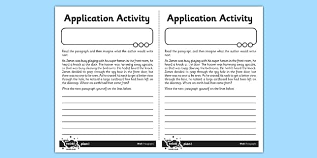 Paragraphs Application Activity Sheet - GPS, sentence, text, cohesion, worksheet