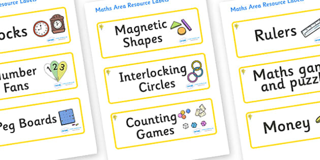 Daffodil Themed Editable Maths Area Resource Labels - Themed maths resource labels, maths area resources, Label template, Resource Label, Name Labels, Editable Labels, Drawer Labels, KS1 Labels, Foundation Labels, Foundation Stage Labels, Teaching La