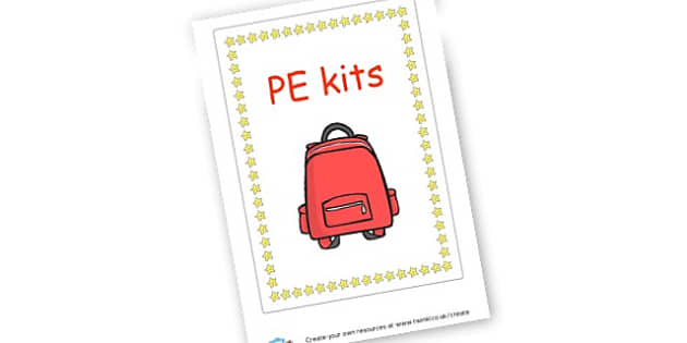 PE kits sign - Cloakroom & Toilet Area Primary Resources, toilets, signs, rules