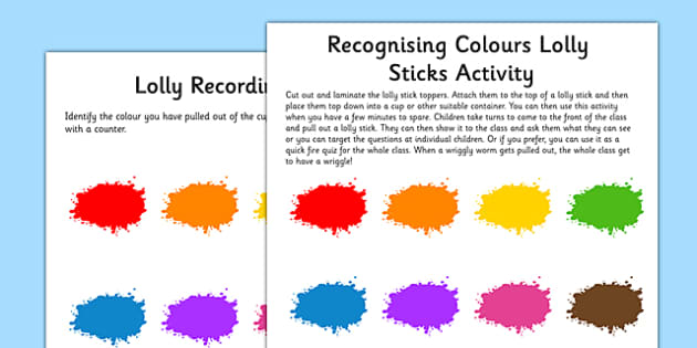 Recognising Colours Wriggly Worm Activity EYFS Resource Pack - EYFS planning, early years activities