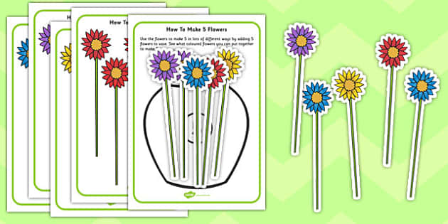 Ways Of Making 5 Flowers Activity - flowers, making, 5, activity