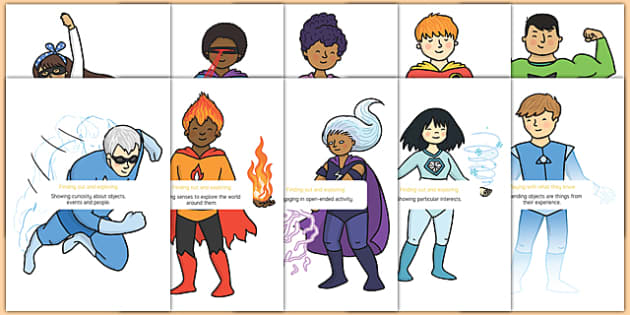 EYFS Characteristics of Effective Learning Statements on Superheroes - eyfs, characteristics of effective learning, superheroes, learning statements