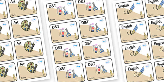 Meerkat Themed Editable Book Labels - Themed Book label, label, subject labels, exercise book, workbook labels, textbook labels