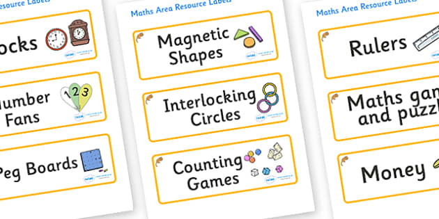 Dormouse Themed Editable Maths Area Resource Labels - Themed maths resource labels, maths area resources, Label template, Resource Label, Name Labels, Editable Labels, Drawer Labels, KS1 Labels, Foundation Labels, Foundation Stage Labels, Teaching La