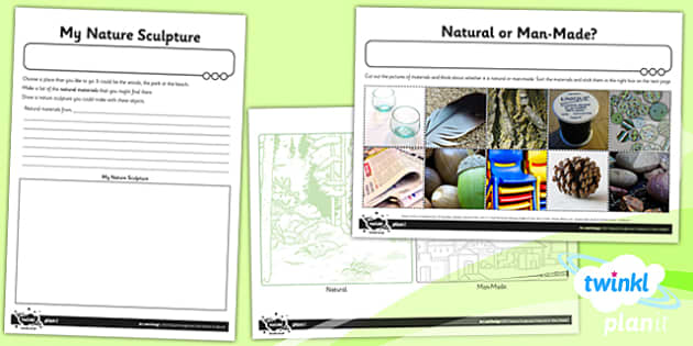 PlanIt - Art KS1 - Nature Sculptures Unit Home Learning Tasks