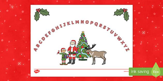 Christmas Themed Upper Case Alphabet Arc
