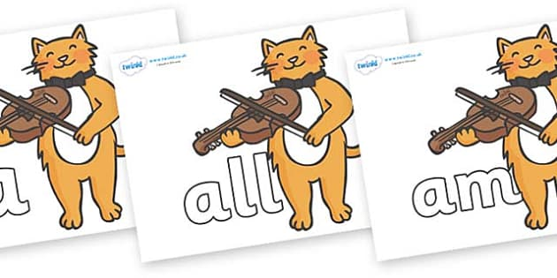 Foundation Stage 2 Keywords on Cat and Fiddle - FS2, CLL, keywords, Communication language and literacy,  Display, Key words, high frequency words, foundation stage literacy, DfES Letters and Sounds, Letters and Sounds, spelling