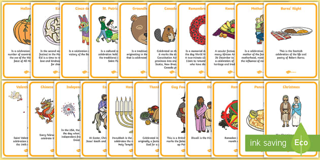 Festivals and Celebrations Display Posters - Festival, dates, celebration, display, posters, xmas, easter, christmas, holiday