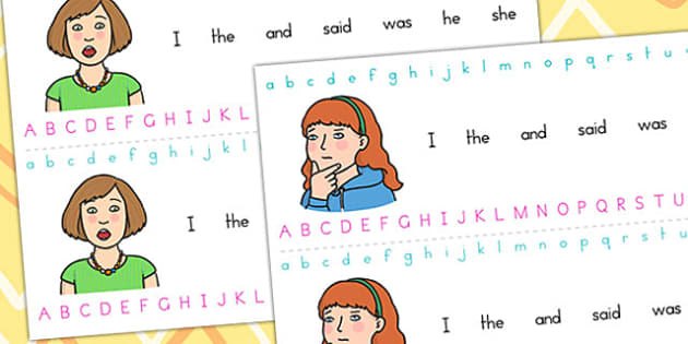 Ourselves Themed Alphabet Strips - alphabet,writing aid, ourselves