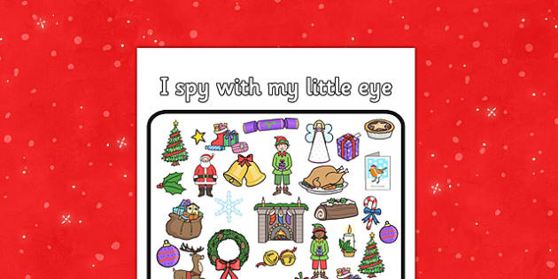 Christmas I Spy Activity Sheet - christmas, I spy, activity, sheet, game, worksheet