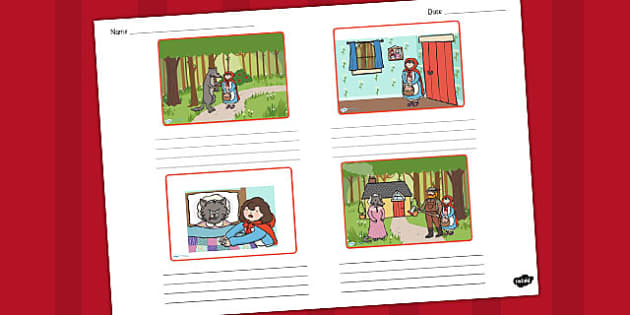 Little Red Riding Hood Storyboard Template - storyboard, riding
