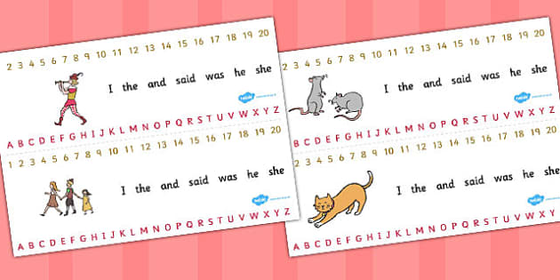 The Pied Piper Combined Number and Alphabet Strips - alphabet