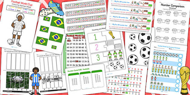 KS1 Football World Cup Maths Activity Pack - sports, numeracy, pe