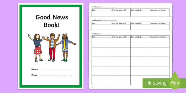 Good News Book Primary Daily - good news, book, primary, daily
