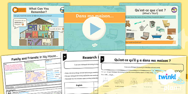 PlanIt - Year 5 French - Family and Friends Lesson 4: In My House Lesson Pack - french, languages, grammar, home, house, furniture, room,French