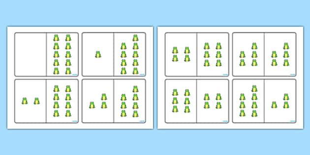 Green Frog Counting Number Bonds to 10 - number, bonds, counting