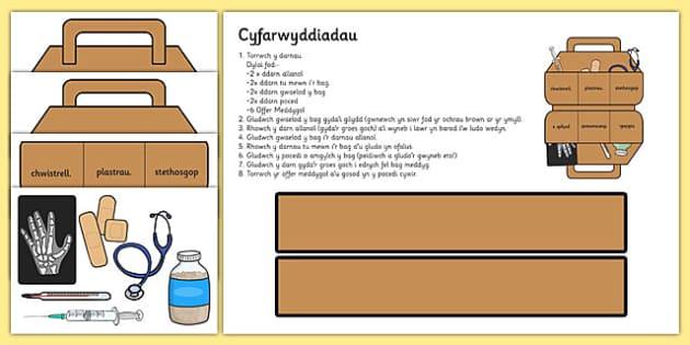 Chwarae Rôl- Offer a bag meddygol Cymraeg - cymraeg, welsh, roleplay, doctor, doctor role play, nurse