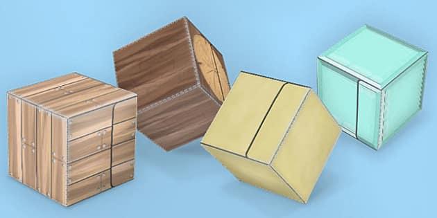 Textured Paper Model Building Blocks 2 - building, blocks, minecraft