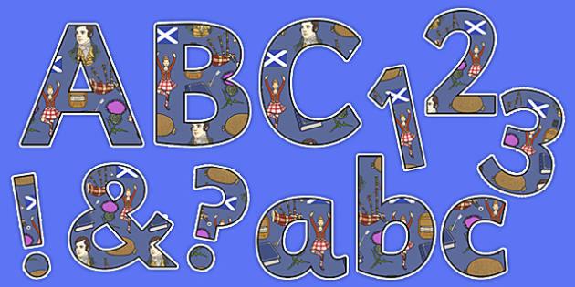 Burns Night Display Lettering Pack - burns night, display lettering, pack