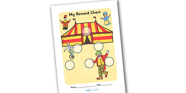 Circus Themed Sticker Reward Chart - circus themed, sticker reward chart, sticker chart, circus themed sticker chart, circus themed reward chart