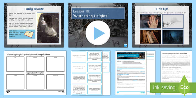 Into The Unknown Lesson Pack 18 'Wuthering Heights' Lesson Pack - Into The Unknown
