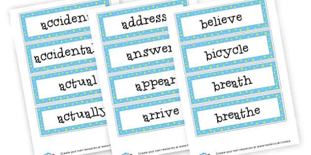 Y3/4 Spellings - 2014 Curriculum - KS2 Spelling Primary Resources, Spelling, KS2 Spelling, KS2