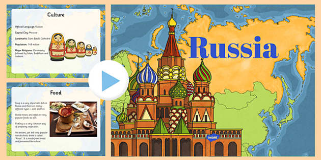 Russia Information PowerPoint - russia, france powerpoint, information about france, france information powerpoint, places, around the world, countries