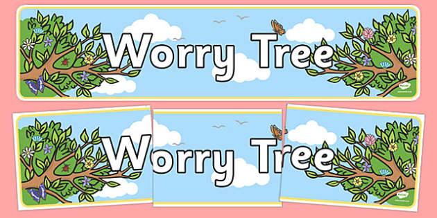 Worry Tree Display Banner - worry tree, display banner, display, banner
