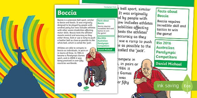 Australia Rio Paralympics 2016 Boccia Display Poster