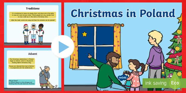 KS1 Christmas in Poland PowerPoint - Christmas, Nativity, Jesus, xmas, Xmas, Father Christmas, Santa, St Nic, Saint Nicholas, traditions,