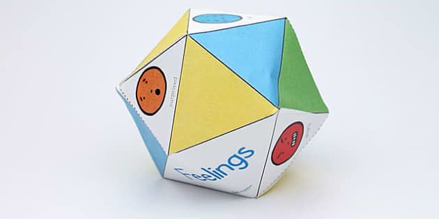 Feelings Talk Craft Ball Template - emotions, ourselves, games