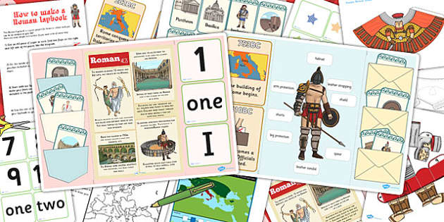 Roman Lapbook Creation Pack - roman, lapbooks, pack, home, learn