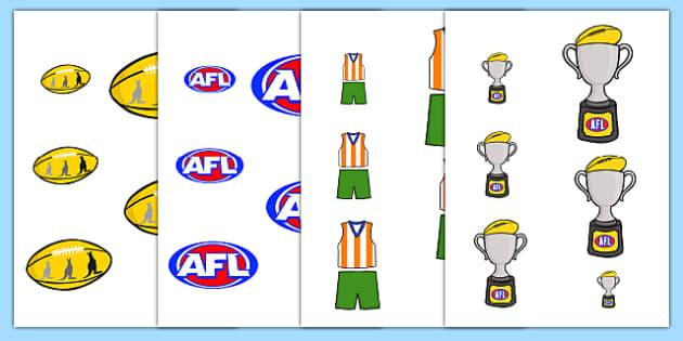 AFL Australian Football League Size Ordering - size, order, sport