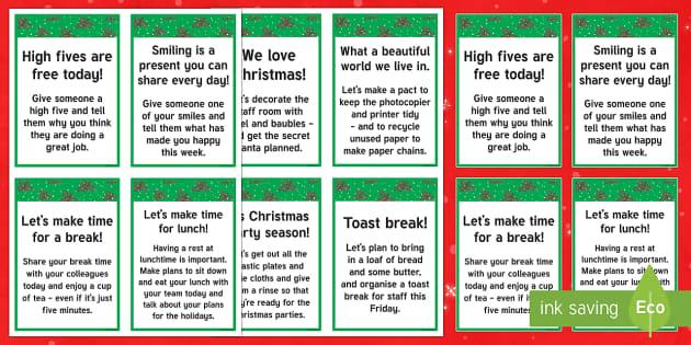 The  Kind Christmas Elves Staff Cards - Christmas, Elf, Elves, Kindness, Kind, Friends, Secret Santa
