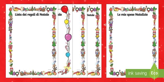 Role Play di Natale Modello Scriturra - Natale, Natalizio, Modello di scrittura, esercizio, scrittura indipendente, lista, regali