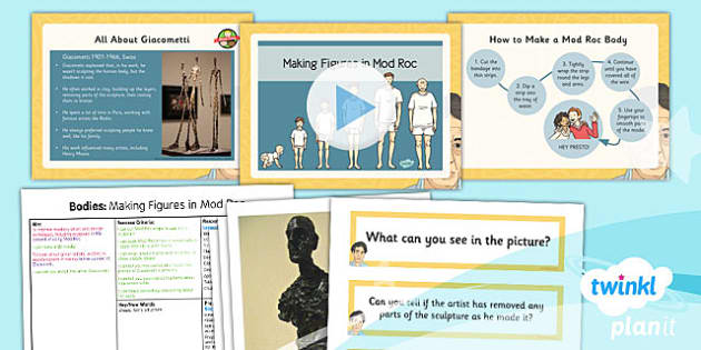 PlanIt - Art LKS2 - Bodies Lesson 5: Making Figures in Mod Roc Lesson Pack