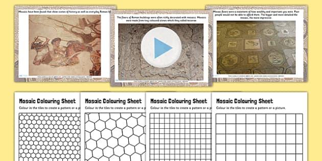 Roman Mosaics Lesson Teaching Pack PowerPoint - romans, history