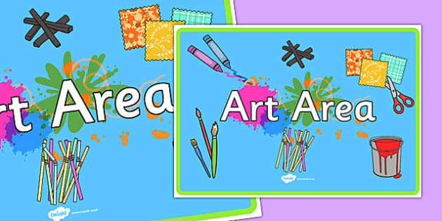 Art Area Display Poster A4 - art area, art, area, art and design, display poster, display, poster