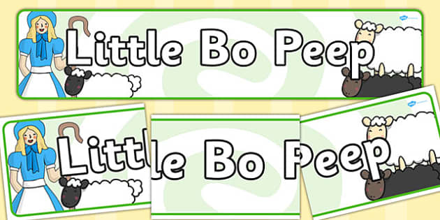 Little Bo Peep Display Banner - Little Bo Peep, nursery rhyme, banner, rhyme, rhyming, nursery rhyme story, nursery rhymes, Little Bo Peep resources, sheep