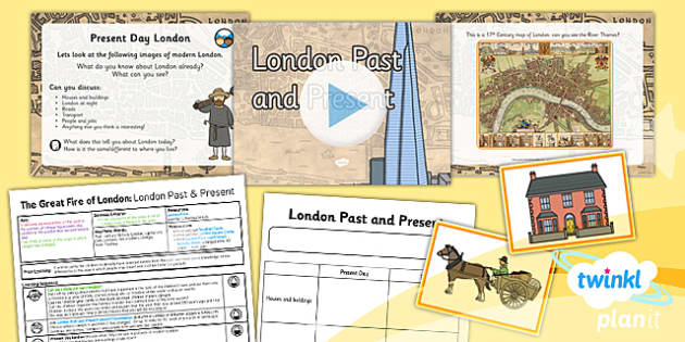 PlanIt - History KS1 - The Great Fire of London: London Past and Present Lesson Pack