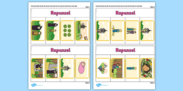 Rapunzel Story Writing Flap Book - rapunzel, story, flap book