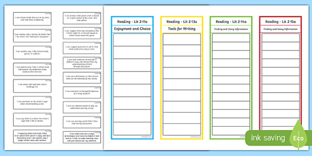 CfE Second Level Reading Assessment Bookmark - cfe, second level, reading, assessment, assess, bookmark