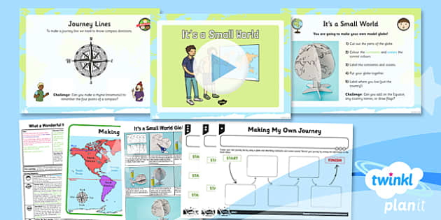PlanIt - Geography KS1 - What a Wonderful World Lesson 3: It's a Small World Lesson Pack