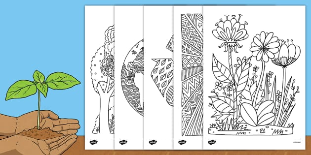 Earth Day Mindfulness Colouring Sheets - earth day, mindfulness, colouring sheets, colouring, sheet, colour
