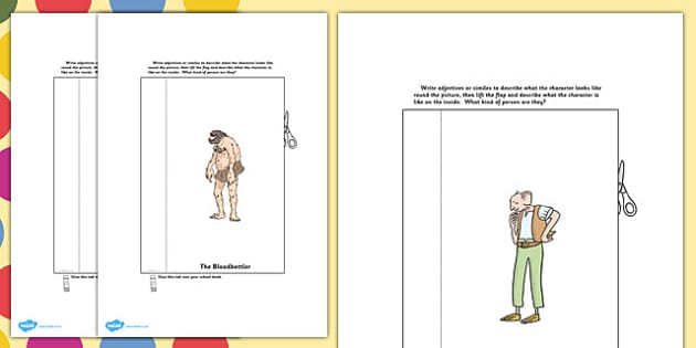 The BFG Character Description Interactive Writing Template - bfg
