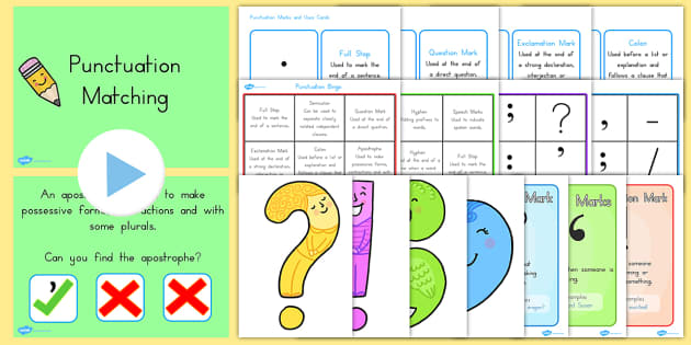 Punctuation Marks Resource Pack - punctuate, activities, displays